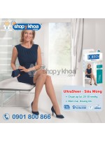 UltraSheer - Siêu mỏng, vớ gối, màu đen, kín ngón